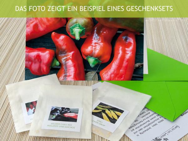 Samengrüße Scharfe Früchtchen, Geschenkset Chilisamen